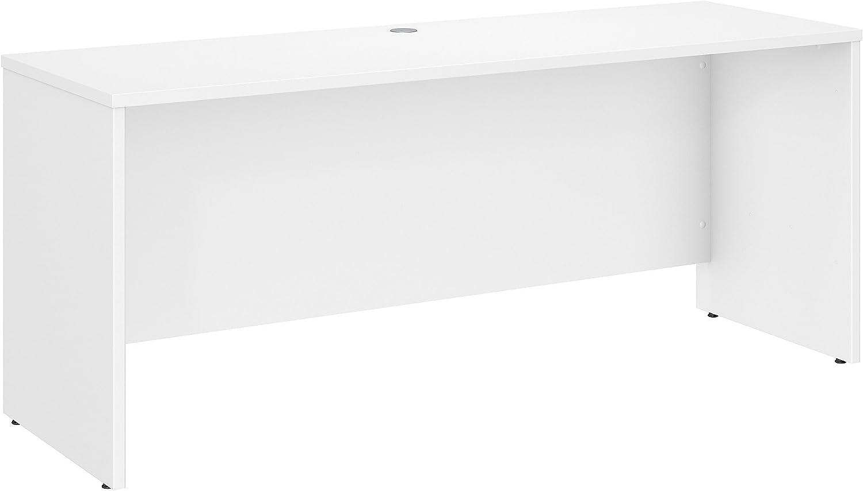 Bush Business Furniture Studio C 72W x 24D Credenza Desk in White