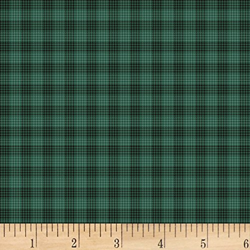 HENRY GLASS & CO. Helping Hands Yarn Dye Flannel Plaid Teal Fabric by The Yard,
