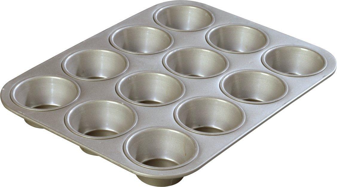 Carlisle 601830 Steeluminum Heavy Duty 12 Cup Cupcake Pan, 14'' Length x 10.62'' Width, 3.5-oz. Capacity (Case of 12)