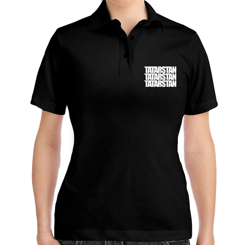 Tatarstan three words Women Polo Shirt