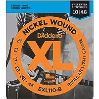Encordoamento Para Guitarra .010-.046 Com Corda Extra PL010 D'Addario XL Nickel Wound EXL110-B