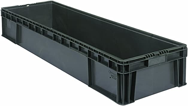 """Buckhorn SW4815080201000 Plastic Straight Wall Storage Container Tote 48/""""x15/""""7.5"""
