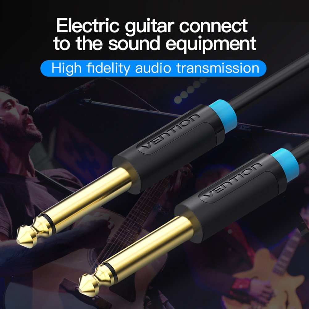 Vention 635mm Guitar Cable635 Mono Jack 1 4 Ts Male To Speaker Wiring Music Instrument Cable For Electric Guitaramplifierspeakerswith Gold Plated3ft 1m