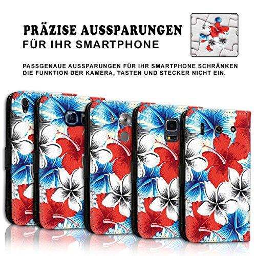 Wallet Book Style Flip Handy Tasche Case Schutz Hülle Schale Motiv Etui für Apple iPhone 6 Plus / 6S Plus - Design Flip MVD131