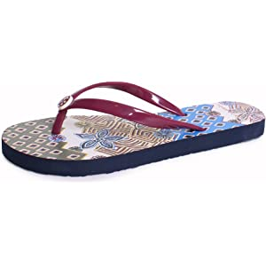 440494dac Tory Burch Thin Printed PVC Flip Flop Sandals in Red Cordovan Jasmine Floral
