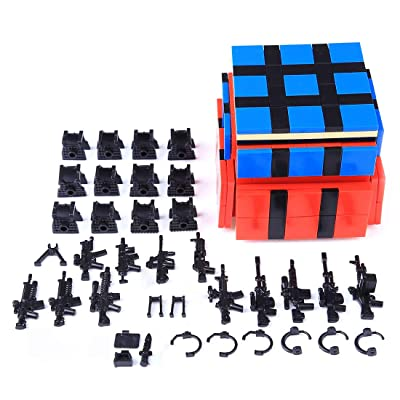 PeleusTech® DIY Toy Weapon Accessories Set for Military Minifigure, Small Particle Building Block: Toys & Games