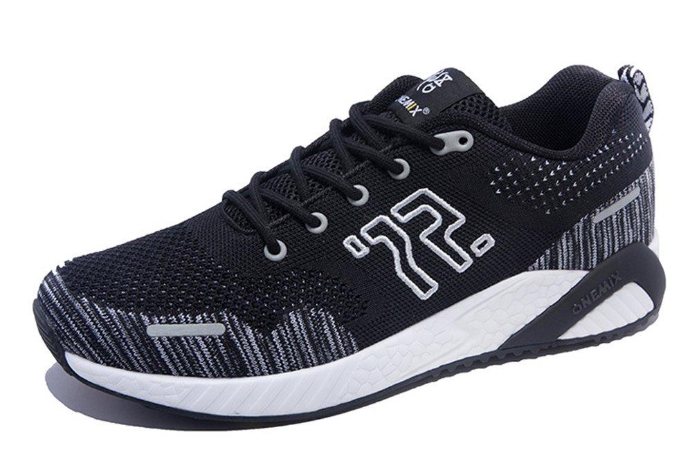 ONEMIX Zapatillas de Running de Competición de Material Sintético Hombre 3.5 UK|Negro/Blanco