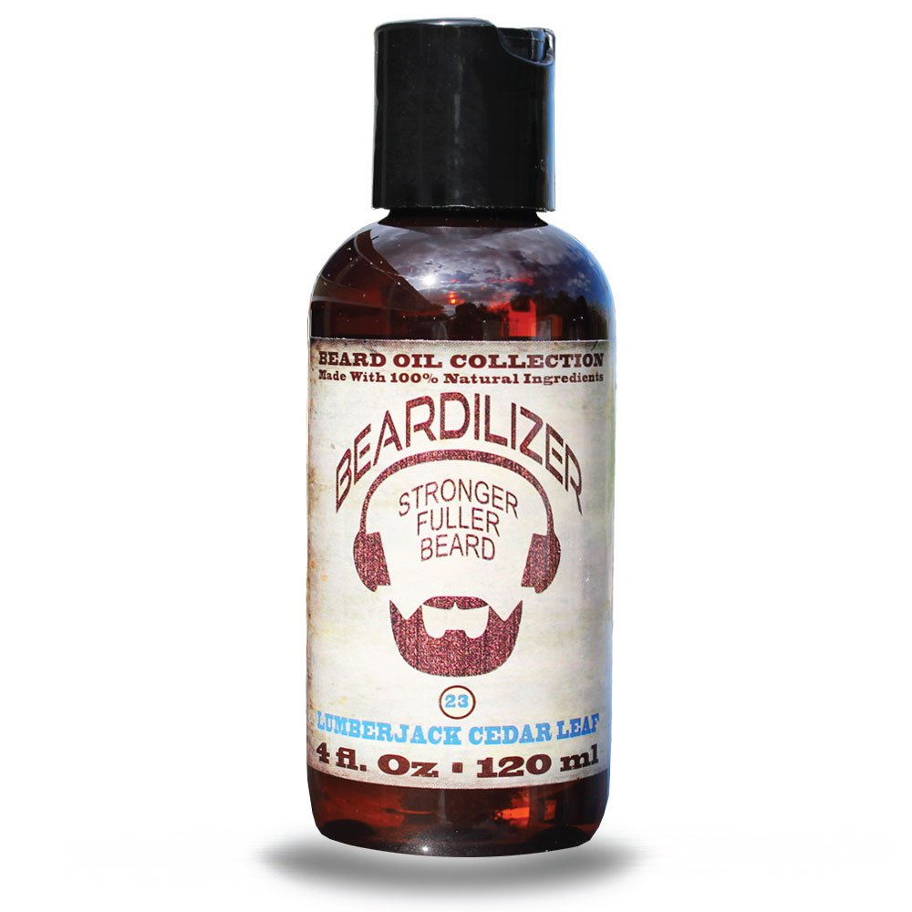 Beardilizer ® Beard Oil Collection - #23 Lumberjack Cedar Leaf 4 Oz - Made with 100% Natural Ingredients