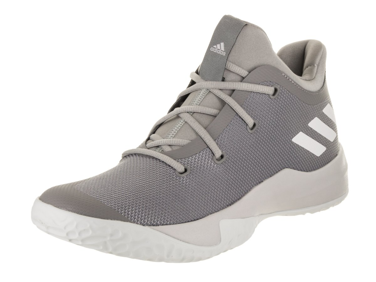adidas Performance Men's Rise up 2 Basketball Shoe, Grey Three/White/Medium Grey Heather, 9.5 M US by adidas