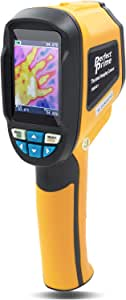 PerfectPrime IR0001 Infrared (IR) Thermal Imager & Visible Light Camera with IR Resolution 1024 Pixels & Temperature Range from -4~572°F, 6Hz Refresh Rate, Black