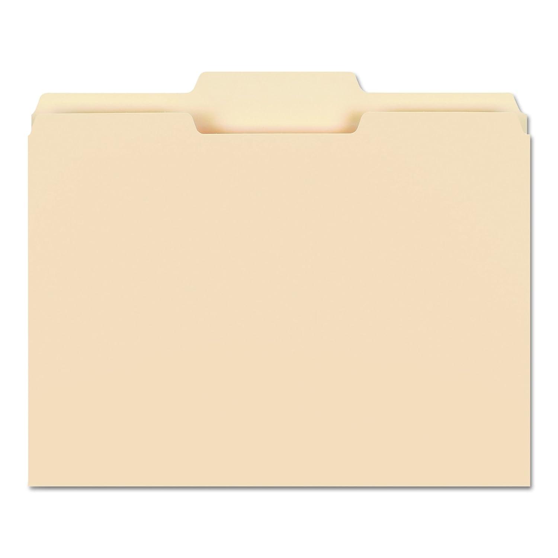 10381 Letter Size Smead File Folder 1//3-Cut Tab Manila 100 Per Box Assorted Position