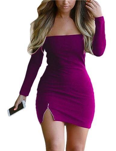 Sexy Purple Sleeve Dress