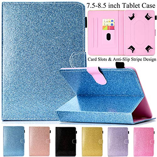 Google Phone Blue Snap - Universal 7.5-8.5 inch Tablet Case, Artyond Multi-Angle Stand Flip Wallet Case with Cards Slots Magnetic Buckle Cover for iPad Mini,Kindle,Android,Galaxy Tab & Other 7.5-8.5 inch Tablet (Blue)