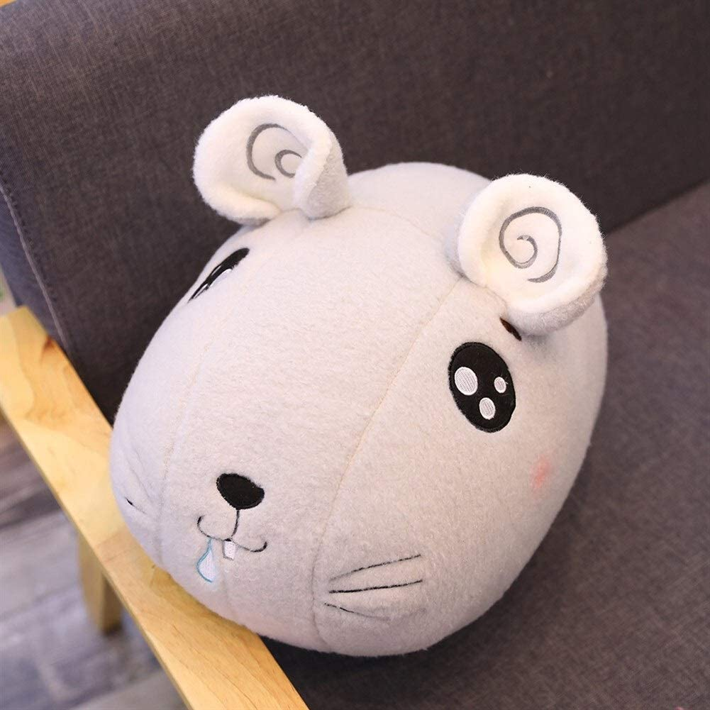 NOBRAND Juguete De Peluche De Ratón,Cute Big Eyed Mouse Doll Cartoon Plush Toy para Dar A Las Niñas Regalo Rata Mascota De Año Almohada Suave (Color : Gray, Size : 45cm)