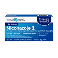 Basic Care Miconazole Nitrate Vaginal Insert (1200 mg) and Miconazole Nitrate Cream...