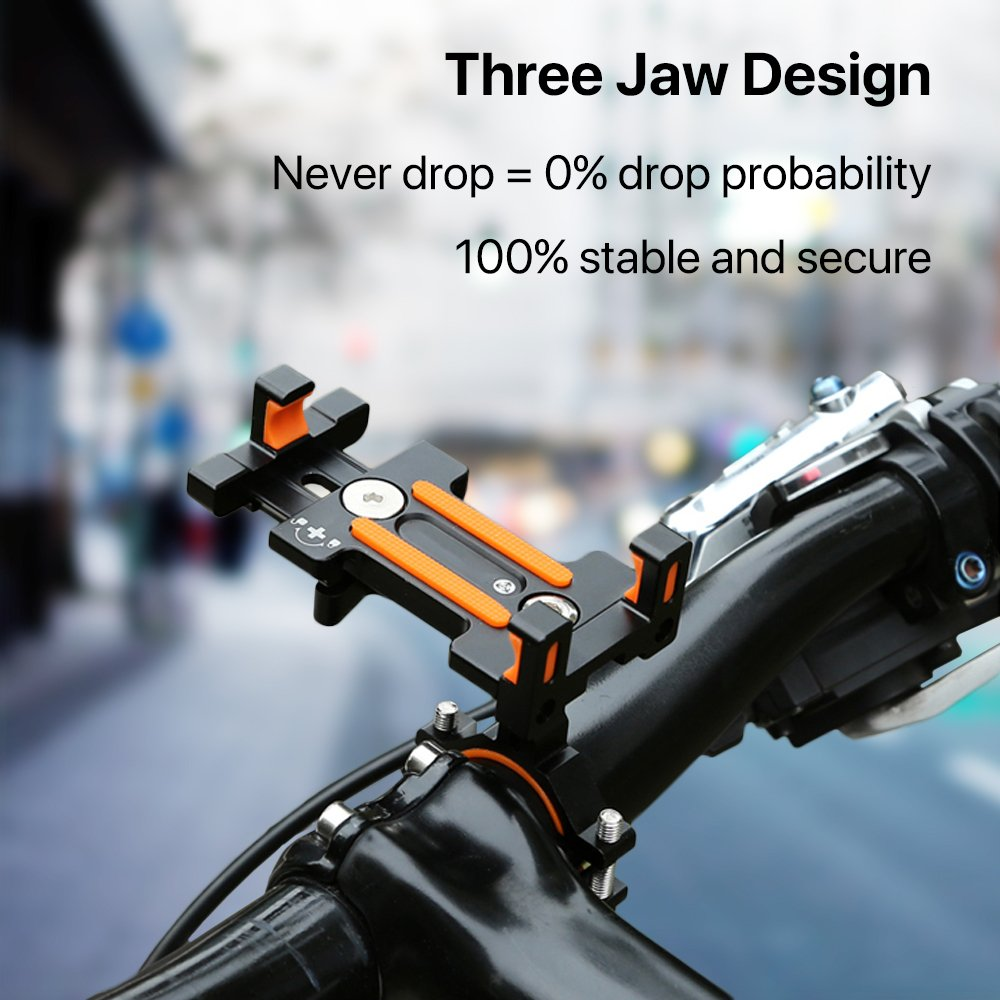 Sporcis Bike Phone Mount, Bicycle Motorcycle Handlebars Mobile Phone Holder with 360 ° Rotation Adjustable, Fits iPhone X, 8 | 8 Plus, 7 | 7 Plus, iPhone 6s | 6s Plus, Galaxy S7/ S6/ S5 by Sporcis (Image #4)