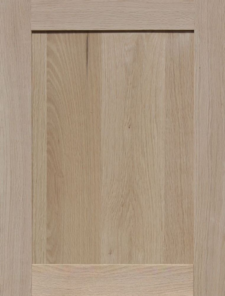 Unfinished Oak Cabinet Door Square with Raised Panel by Kendor 21H x 16W