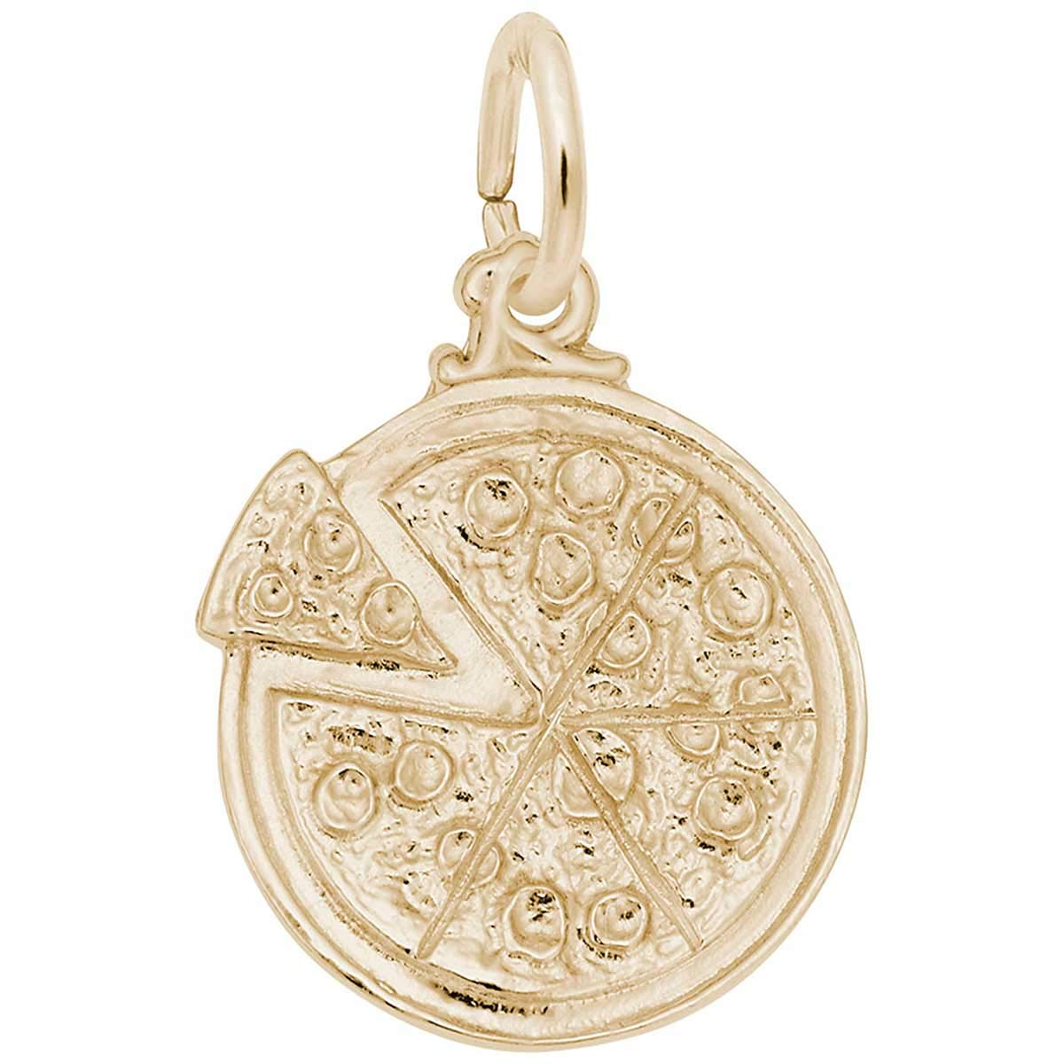 Rembrandt Charms Pizza Charm, 10K Yellow Gold