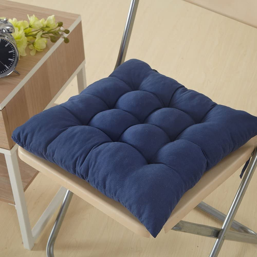 Blue Esta.east Super Soft Double-Sided Cushion Strapped Upholstery for Dining//Office//Living Room//Car 40 40cm
