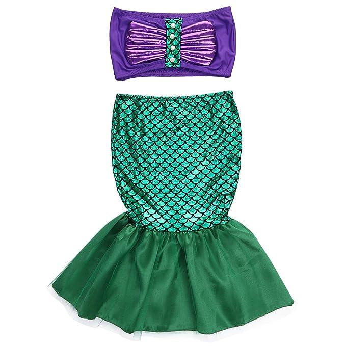 Amazon.com: 2 piezas de traje de baño de sirena para bebé ...