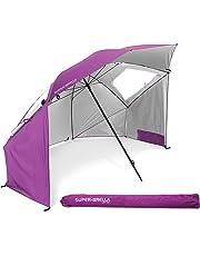 Sport-Brella Super-Brella SPF 50+ Sun and Rain Canopy Umbrella for Beach and Sports Events (8-Foot, Blue)