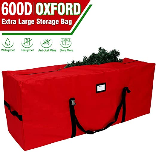 Red Heavy Duty Storage Container OurWarm Holiday Tree Storage Bag