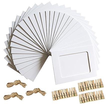 Amazon.com - Paper Photo Frame 4x6 Kraft Paper Picture Frames 30 PCS ...