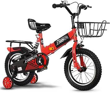 Niñas y niños de bicicleta plegable para niños, ruedas y canasta ...