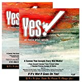 Yes! Canvas Paper Pad Multimedia 100% Cotton Canvas Triple-Primed for Multi Media Use - 2 Pack (20 Canvas Sheets) - 16'' x 20''