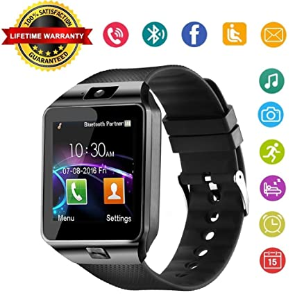 Aeifond Smart Watch DZ09 Bluetooth Smartwatch Touch Screen Wrist Watch Sports Fitness Tracker with Camera SIM SD Card Slot Pedometer Compatible iPhone ...