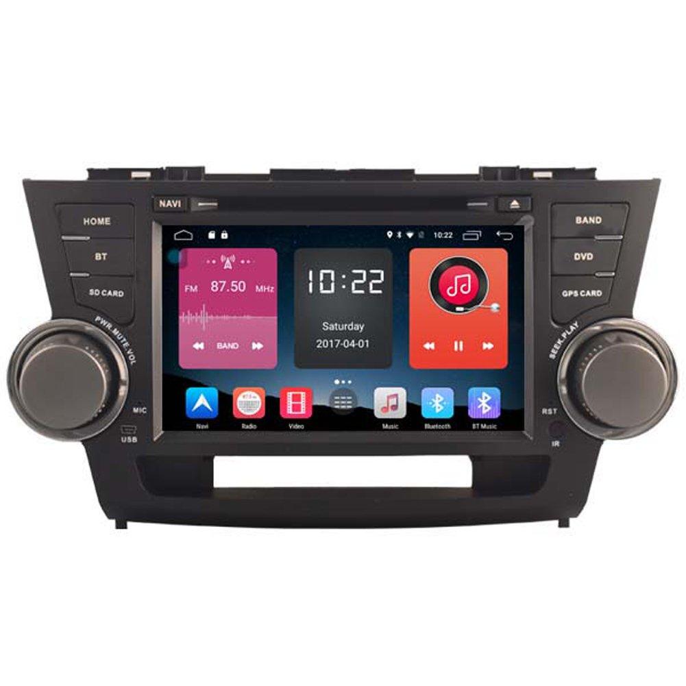 autosion in Dash Android 6.0車DVDプレーヤーSAT NAVラジオヘッドユニットGPSナビゲーションステレオfor Toyota Highlander 2008 2009 2010 2011 2012サポートBluetooth SD USBラジオOBD Wifi DVR 1080p B0787JRQJR