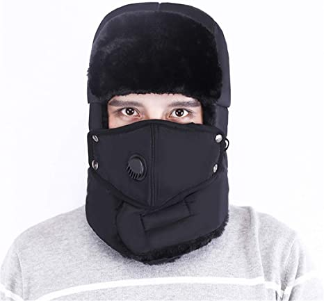 Unisex Men//Women Winter Trapper Aviator Trooper Earflap Warm Ski Hat With Mask