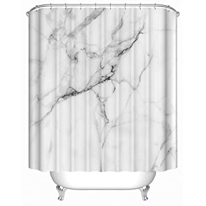 Uphome Wild Symbol Marble Pattern Bathroom Shower Curtain