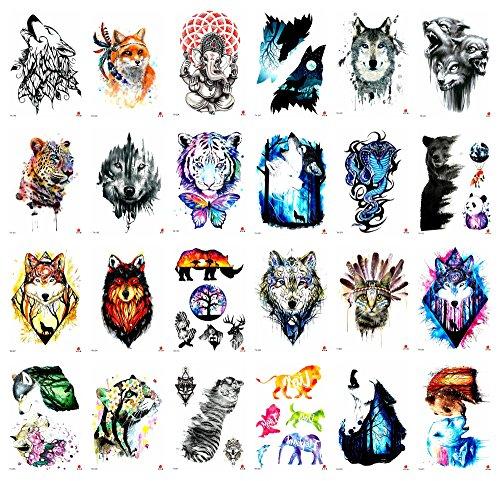 24 sheets watercolor animals 8.25