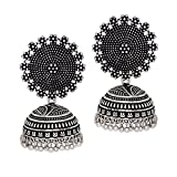 Product review for Jaipur Mart Oxidised Plated Jhumka Indian Unique Ethenic bollywood Earrings Jewellery