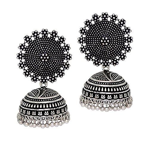 51818a5c2 Jaipur Mart Oxidised Plated Jhumka Indian Unique Ethenic bollywood Earrings  Jewellery