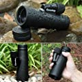 Eyeskey 10X42 High Powered Monocular - Bright and Clear Range of View - Single Hand Focus - Waterproof, Fogproof - For Bird Watching, or Wildlife - Night vision