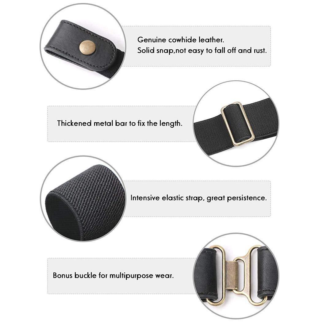 Cintura Elastica Senza Fibbia per Donna//Uomo Cintura Elastica Fino a 39Cintura Regolabile per Pantaloni Jeans