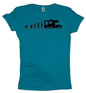 Ma2ca - Evolution - Camper - Damen Girlie T-Shirt -azure-xs