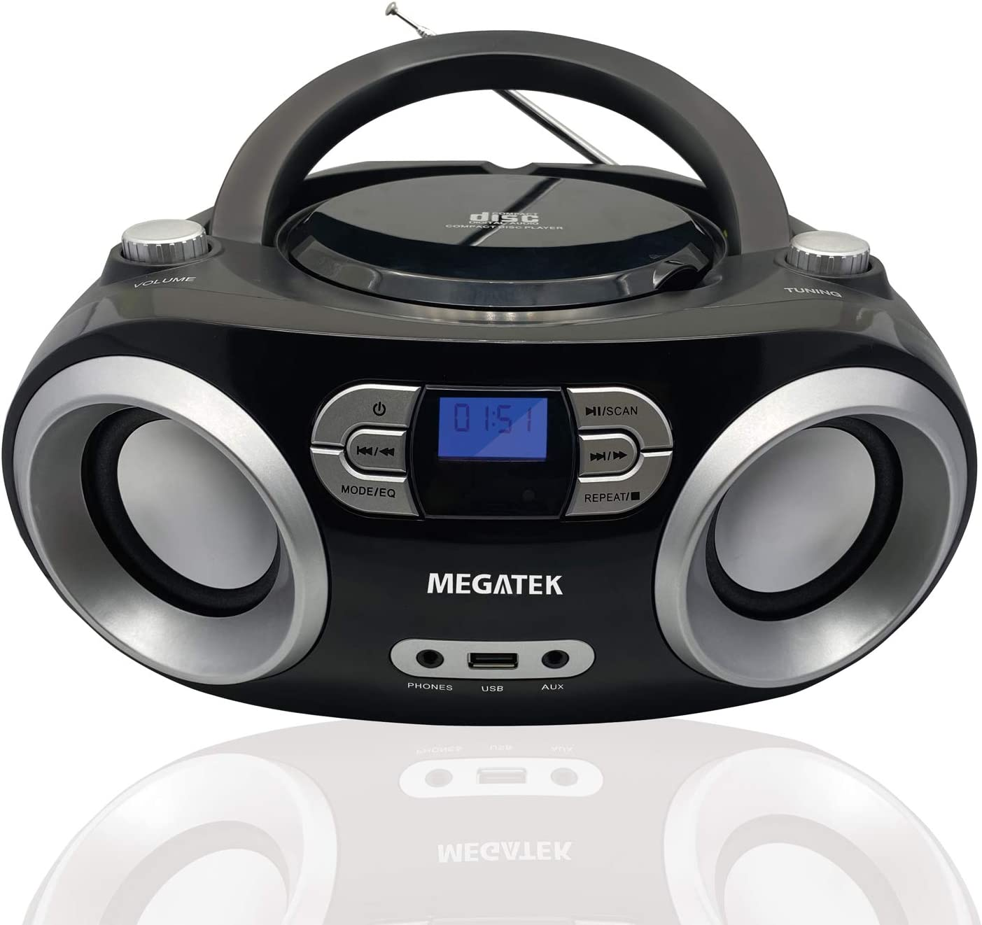 best portable cd player with speakers