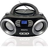 Megatek CB-M25BT Portable CD Player Boombox with FM Stereo Radio, Bluetooth Wireless & Enhanced Sound, CD-R/CD-RW/MP3/WMA Pla