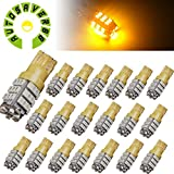 AUTOSAVER88 20X T10 Wedge Side Trailer 42-SMD LED Yellow Interior Light 192 168 2825