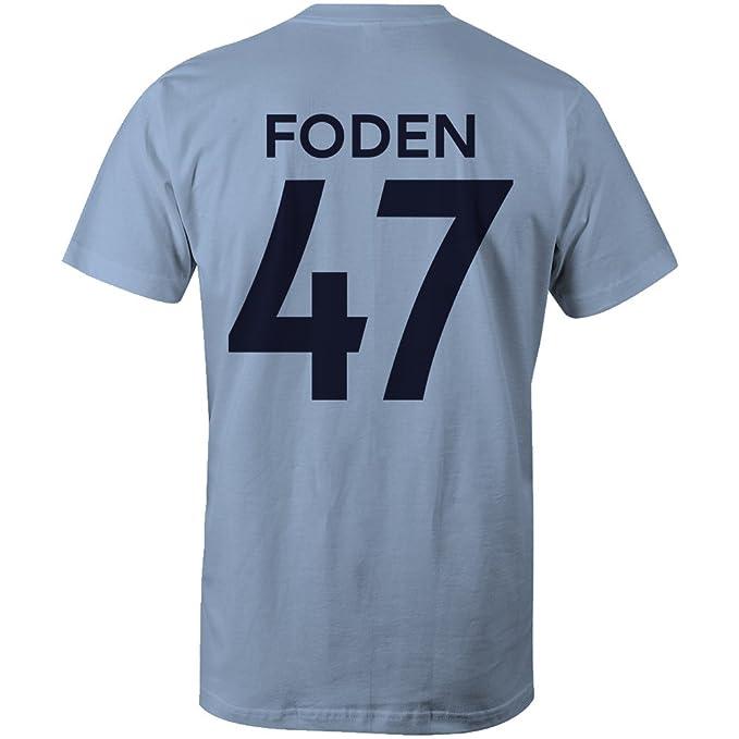 sale retailer 81458 2792b Phil Foden 47 Club Player Style Kids T-Shirt Sky/Navy ...