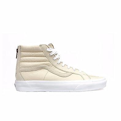 86fe68fa97e Vans Sk8-Hi Reissue Zip Premium Leather White (6.5 Women / 5 Men M
