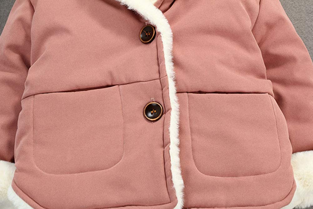 Mornyray Toddler Baby Outerwear Winter Fleece Jacket Hooded Coat Infant Boy Girl