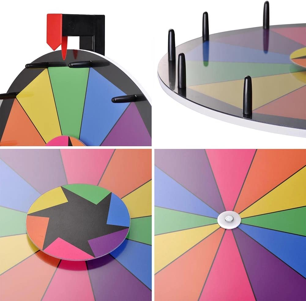 "WinSpin WinSpinâÂ""¢ 15 Tabletop Editable Color Prize Wheel 12 Slot ..."