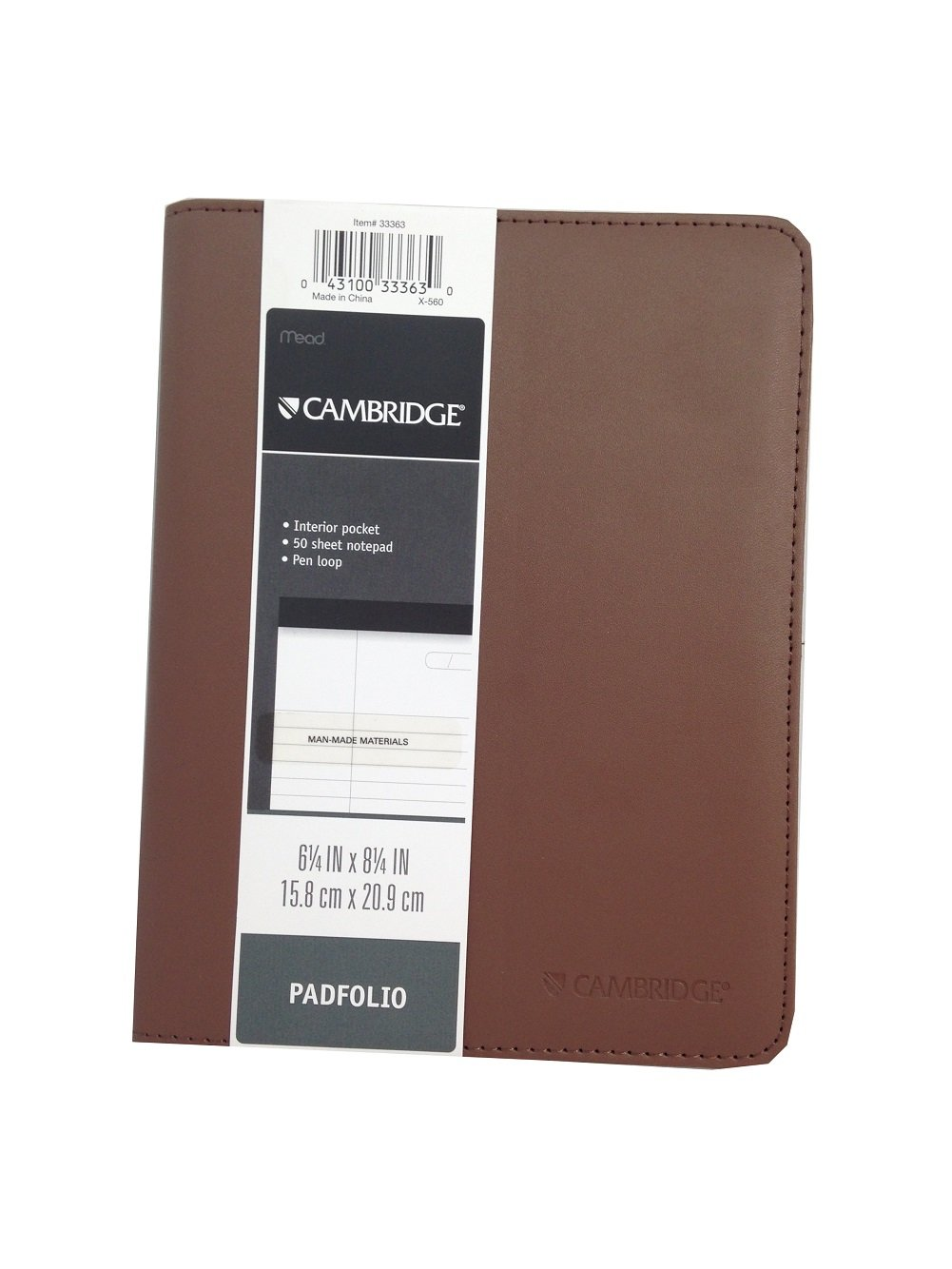Cambridge Padfolio 6 1/4'' X 8 1/4'' (Brown)