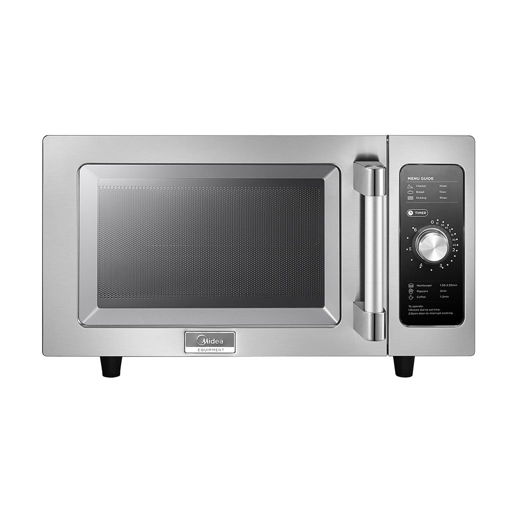 Midea 1025F0A Light Duty Commercial Microwave 1000W with Dial Controls