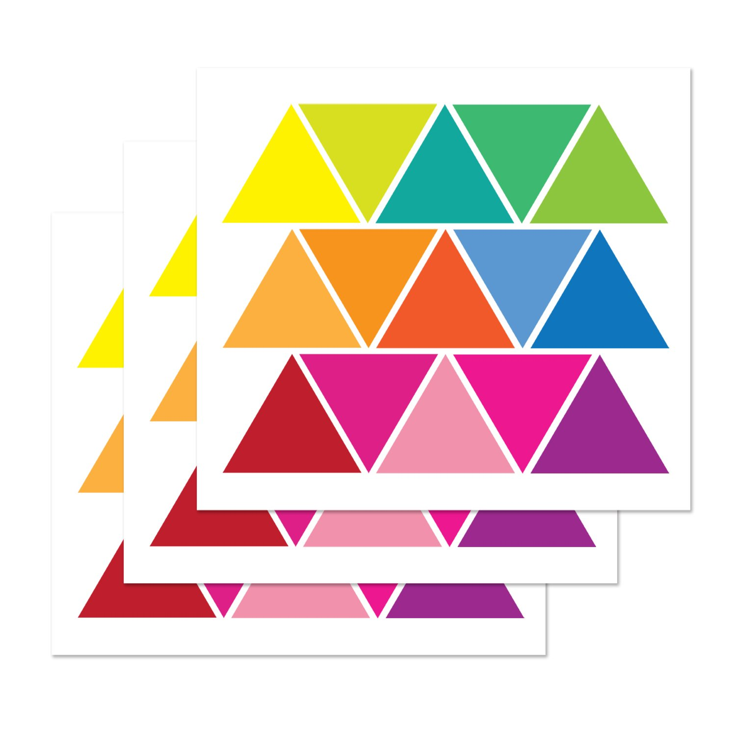 PARLAIM 45 Mod Multi-Color Triangle Wall Decals Peel and Stick Eco-Friendly Reusable Wall Stickers with Gift Packaging for Kids Room,Living Room,Bedroom TianLiCheng 3.4 x 3 inch