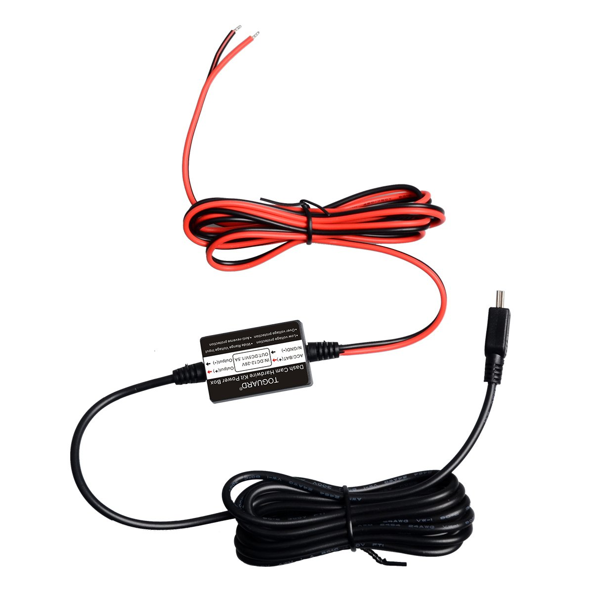 Toguard Dash Cam Hard Wire Kit With Mini Usb Port Car Wiring To Cigarette Lighter Free Download Diagrams Electronics